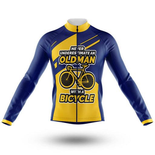 Old Man V1 - Long Sleeve Jersey - Global Cycling Gear