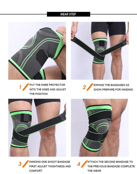 Protective Knee Support Bandage (1 piece) - Global Cycling Gear