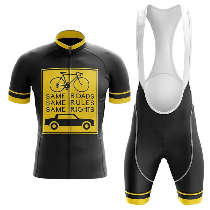 Same Roads Same Rules - Safety Men's Cycling Kit - Global Cycling Gear
