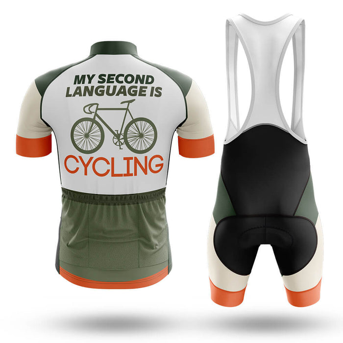 My Second Language Is Cycling - Men's Cycling Kit - Global Cycling Gear