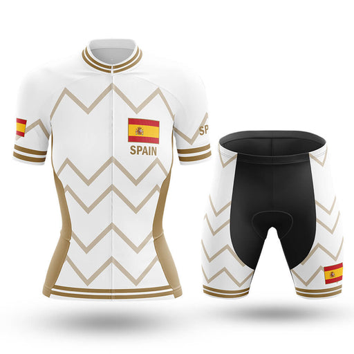 Spain  - Women V17 - White - Cycling Kit - Global Cycling Gear