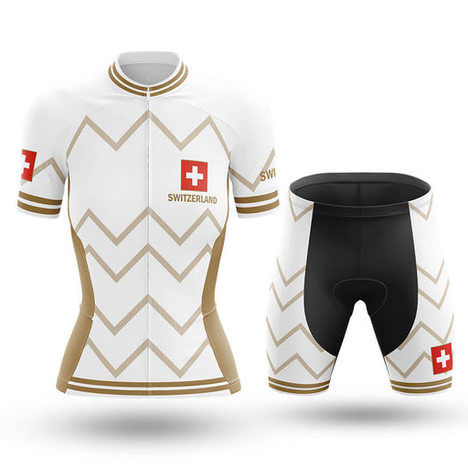 Switzerland - Women V17 - White - Cycling Kit - Global Cycling Gear