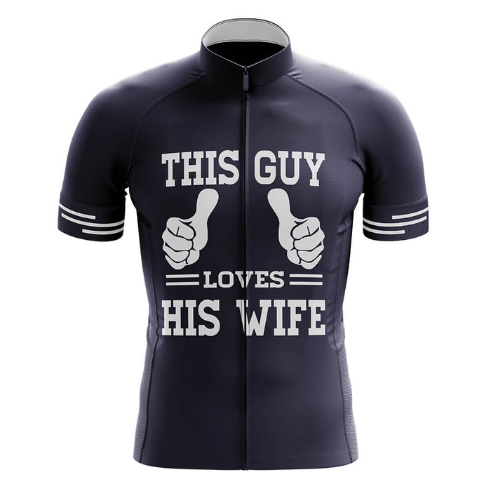 This Guy Loves His Wife - Men's Cycling Kit - Global Cycling Gear