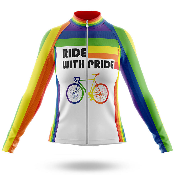 Ride With Pride - Women -  Long Sleeve Jersey - Global Cycling Gear