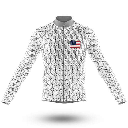 USA V8 - Long Sleeve Jersey - Global Cycling Gear