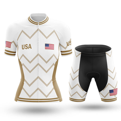 USA - Women V17 - White - Cycling Kit - Global Cycling Gear