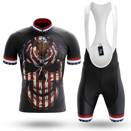 USA Flag Skull - Men's Cycling Kit
