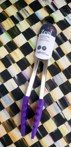 Perfect Grip Cooking Tongs - Purple