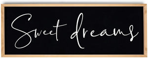Sweet Dreams Midnight Black Wall Art