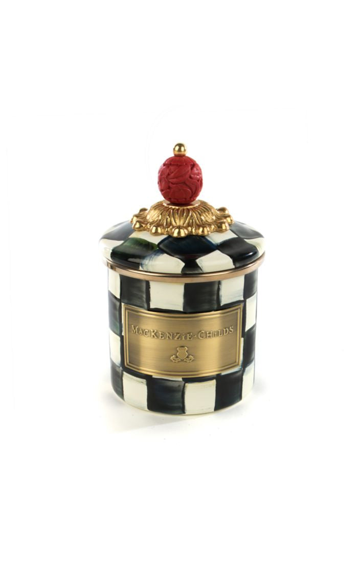 Courtly Check Enamel Canister - Mini