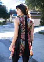 Load image into Gallery viewer, Printed Chiffon Vest