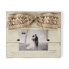 Large Cream Burlap Bow Frame