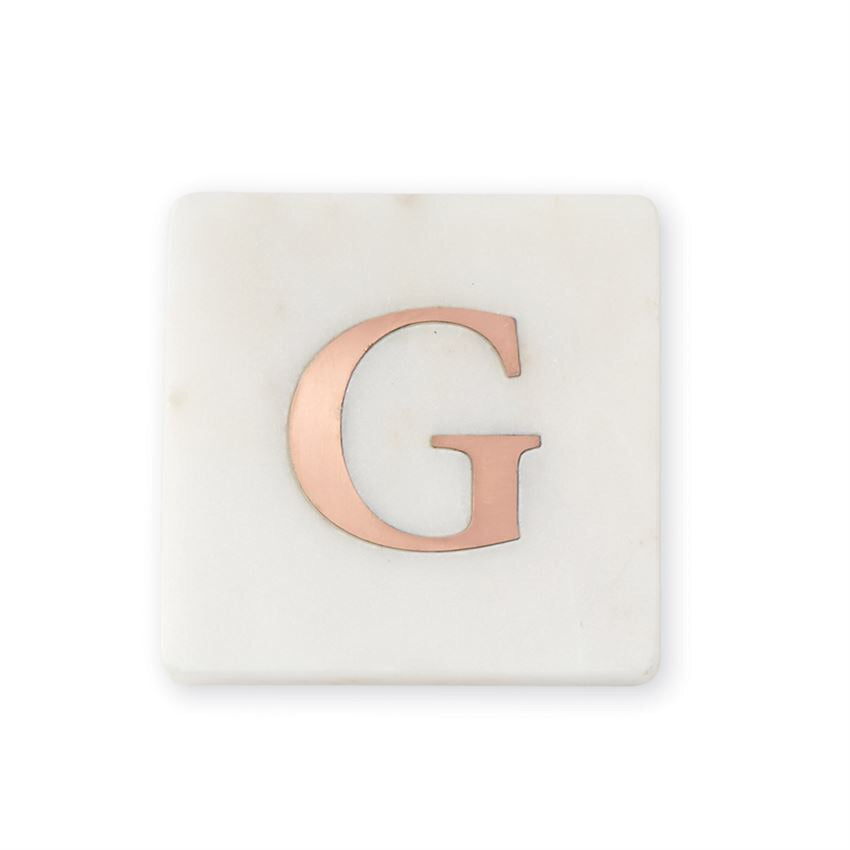 """G"" Initial Marble Coaster Set"