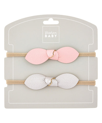 Stephan Baby Pink/Silver Headband Set