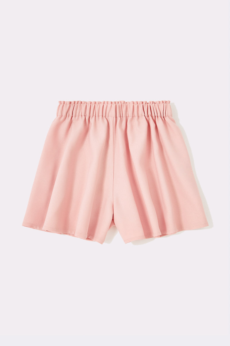 Pull on shorts with gathered waistband