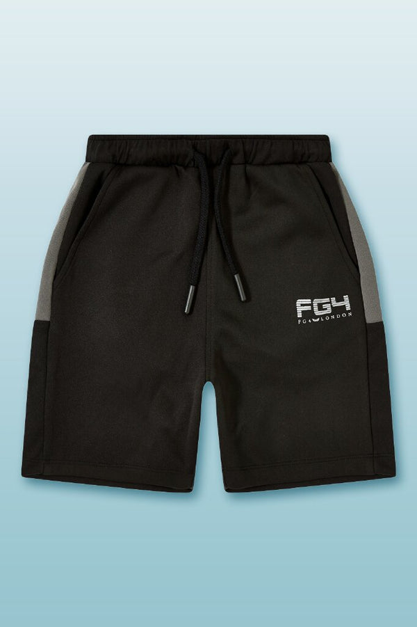 Sports performance shorts with elasticated waist, drawcord detail and new printed FG4 sports branded logo.