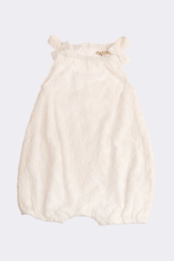 Cream all in one piece romper outfit for girls