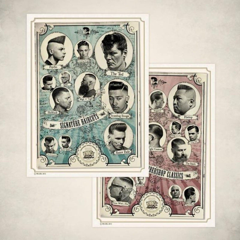 The Barbershop Classics and The Signature Haircuts Posters