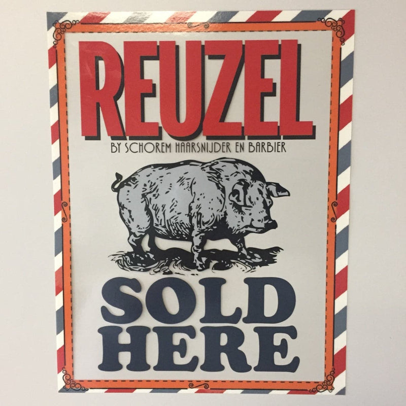 REUZEL Sold Here Window Cling