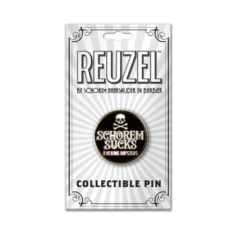 Reuzel Collectible Pin: Schorem Sucks