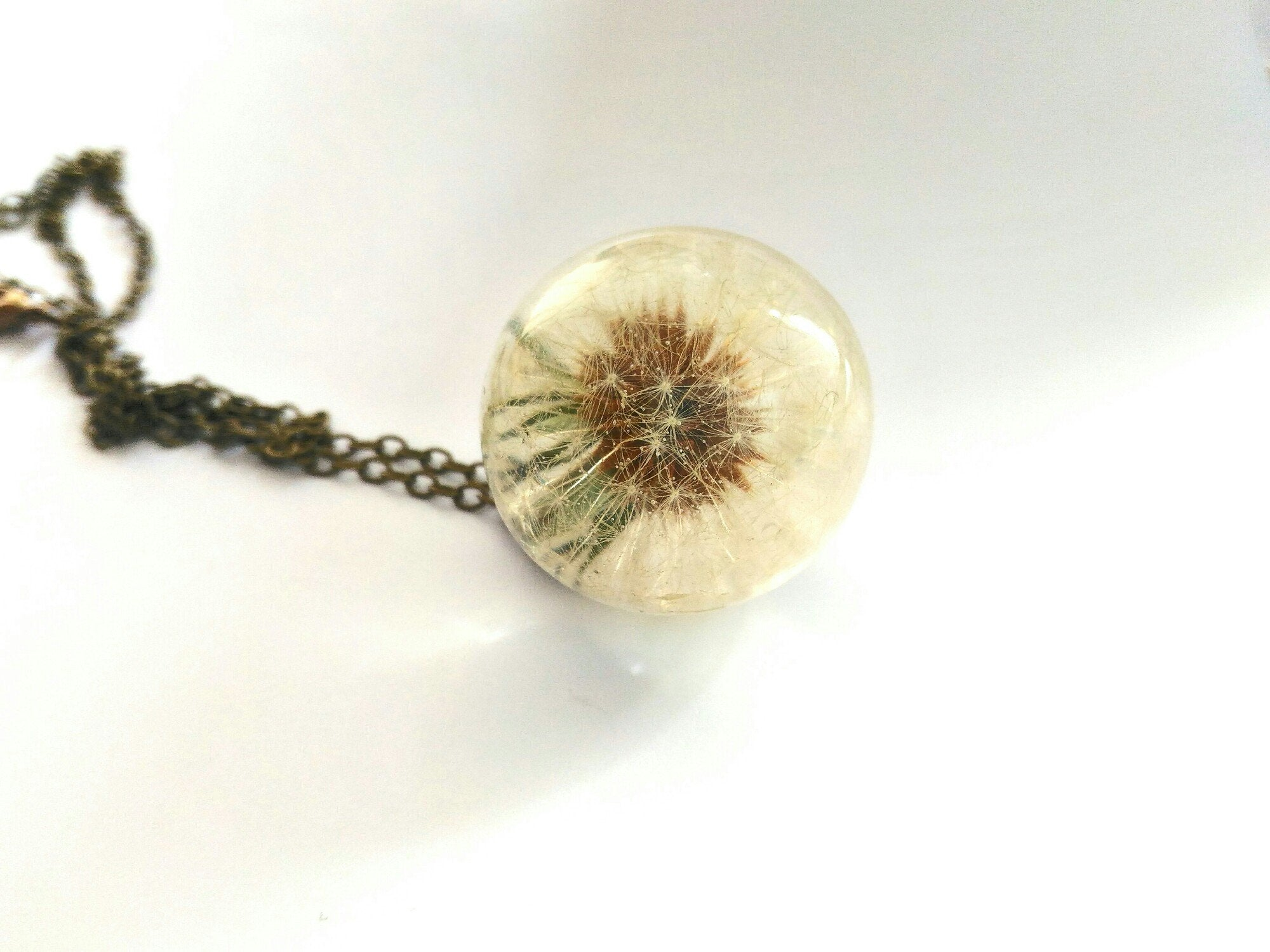 Magic Sphere - Universe In A Sphere, Dandelion necklace