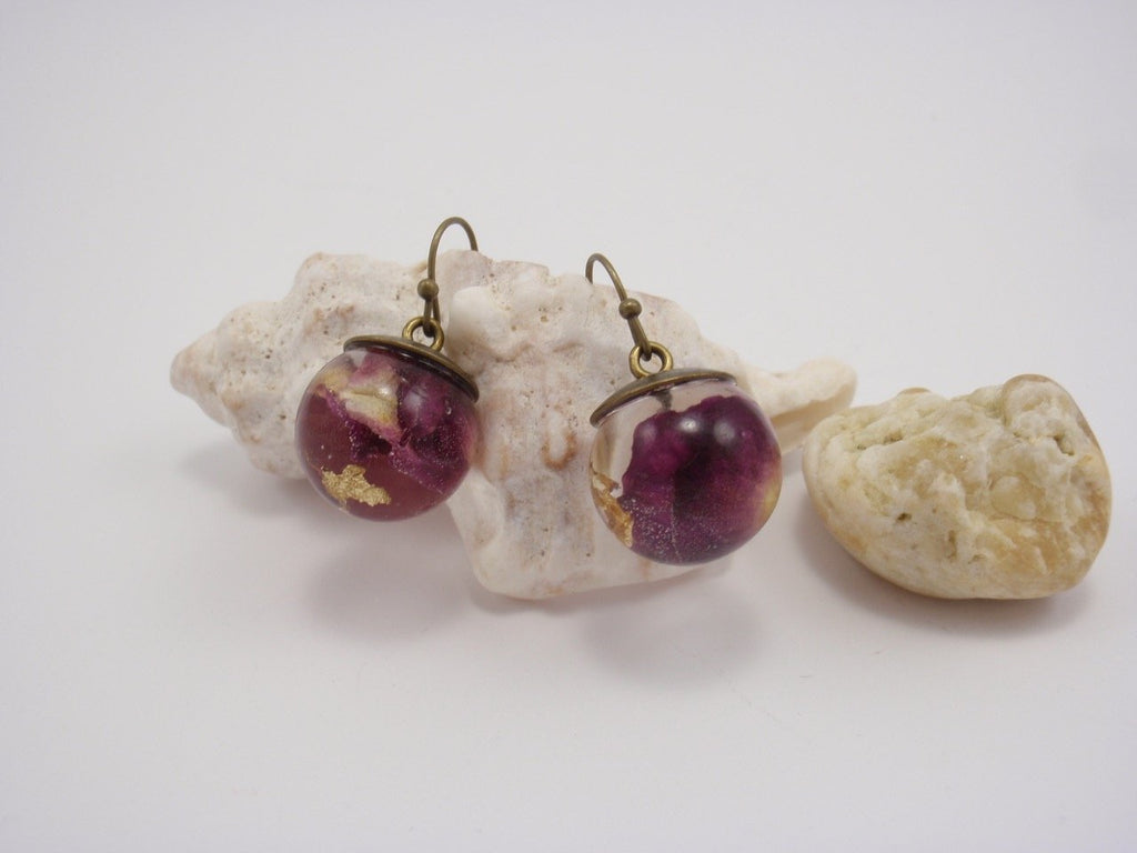 Rose petals earrings