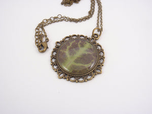 Nature lover necklace, real ivy leaf necklace
