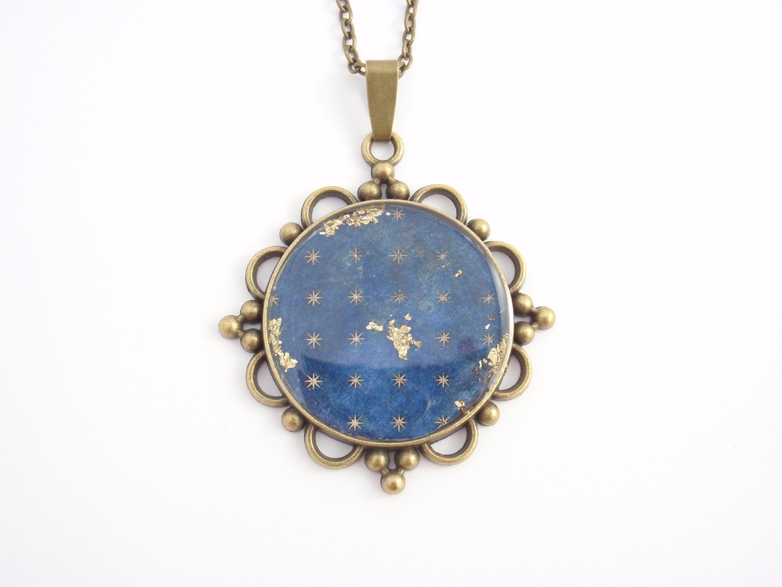 """Starry Night"" - necklace from Art Re-framed series"