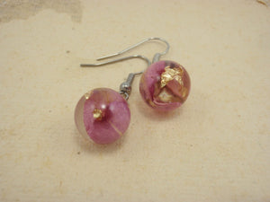 Small rose petals earrings