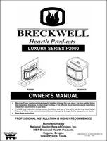 Breckwell P2000 2003 Owner's Manual