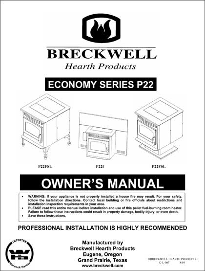 Breckwell P22 Owner's Manual 2004
