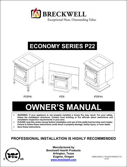 Breckwell P22 Owner's Manual 2009
