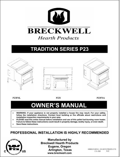 Breckwell P23 2005 Owner's Manual