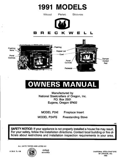 Breckwell P24 1991 Owner's Manual