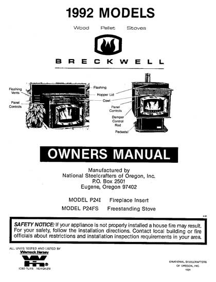 Breckwell P24 1992 Owner's Manual