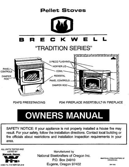 Breckwell P24 1994 Owner's Manual