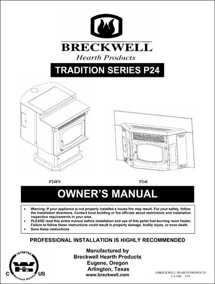 Breckwell P24 2005 Owner's Manual