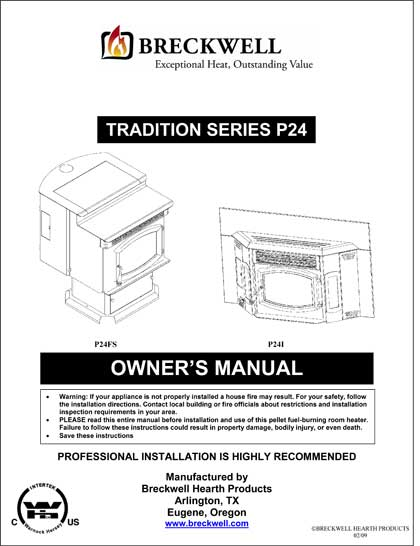 Breckwell P24 2009 Owner's Manual