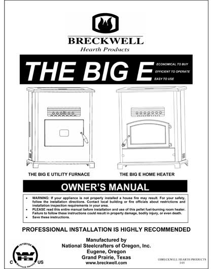 Breckwell The Big E - 2005 Owner's Manual