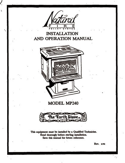 Earth Stove MP240 Owner's Manual