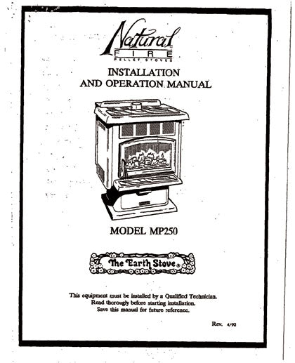Earth Stove MP250 Owner's Manual