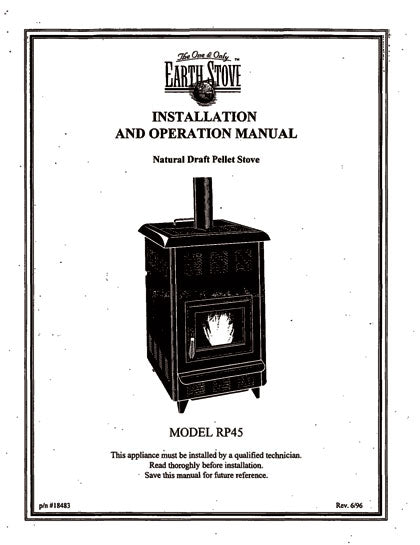 Earth Stove RP45 Owner's Manual