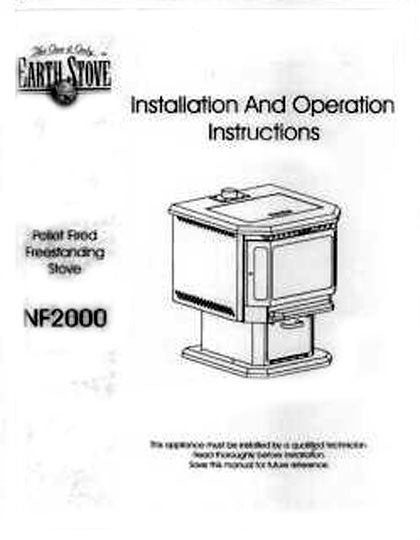 Earth Stove NF2000 Owner's Manual