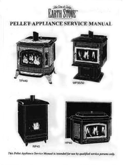 Earth Stove Traditions TP440 Service Manual