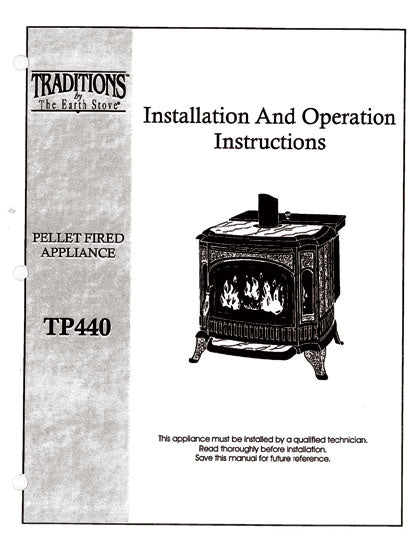 Earth Stove Traditions TP440 Owner's Manual
