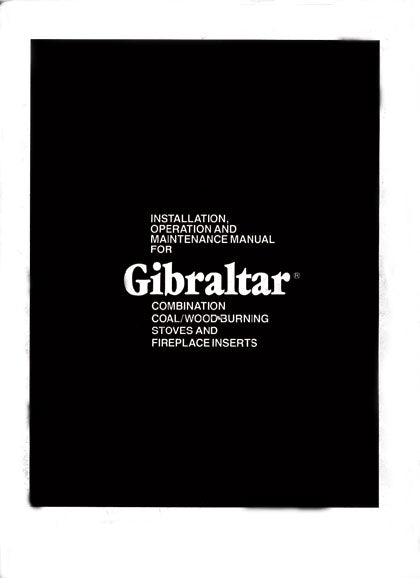 Gibraltar Coal-Wood Stove Owner's Manual