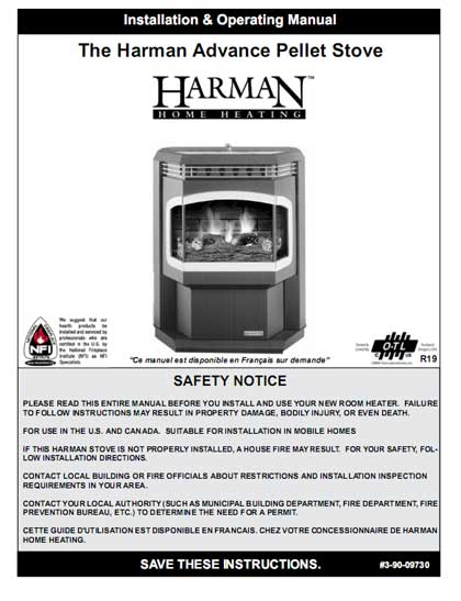 Harman Advance Pellet Stove Manual