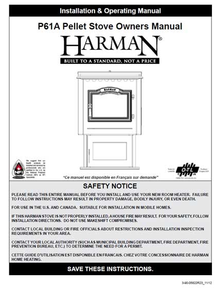Harman P61A Owners Manual