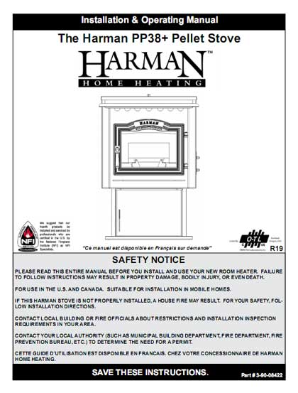 Harman PP38 Plus Pellet Stove Manual
