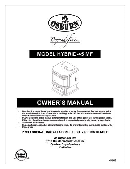 Osburn Hybrid 45 Owner's Manual